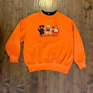 VTG 90s Halloween bear sweater